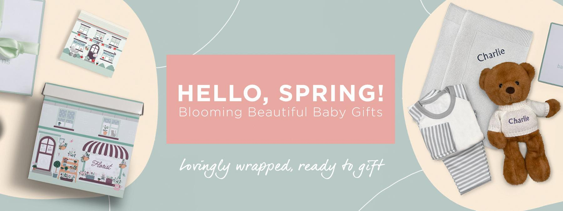 New baby gifts and baby hampers