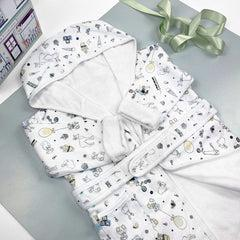 Little Love Cotton Baby Bathrobe Size 0-12 Months
