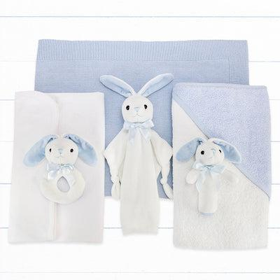 Personalised Three Little Bunnies Luxury New Baby Hamper – Blue