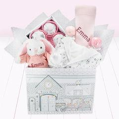 Little Love Sleepy Time Hamper, Pink - 0-12 Months with Printed Reversible Bathrobe