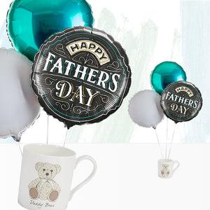 Father's Day Balloon Bouquet with Daddy Bear Mug