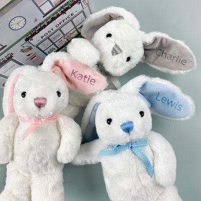 Personalised Baby Bunny, Blue