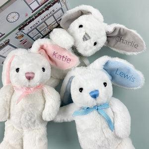 Personalised Baby Bunny, Grey