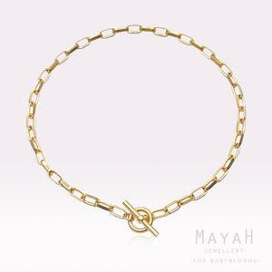MayaH Jewellery Chunky Chain Necklace in Gold