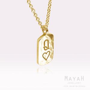 MayaH Jewellery Queen of Hearts Necklace in Gold