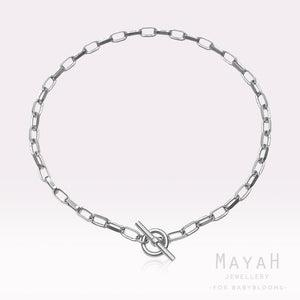 MayaH Jewellery Chunky Chain Necklace in Silver