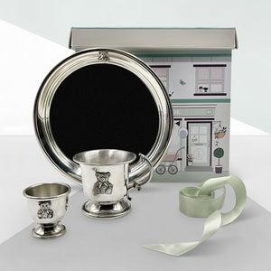 Little Treasures Pewter Breakfast Set with Cup