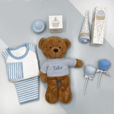 Charlie Bear Baby Boy Sweet Treats Hamper, Blue