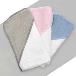 Welcome Baby Clothes Posy With Hooded Baby Towel, Blue