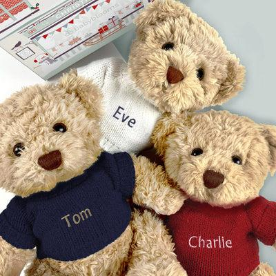 Personalised Bertie Year Bear Blue 2020