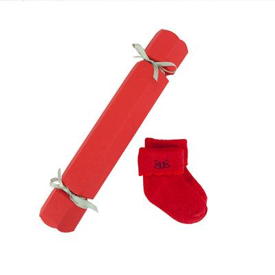 Baby's First Christmas Cracker Socks, Red