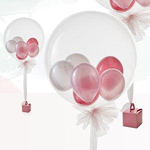 Luxury Pink Multi-Bubble Balloon
