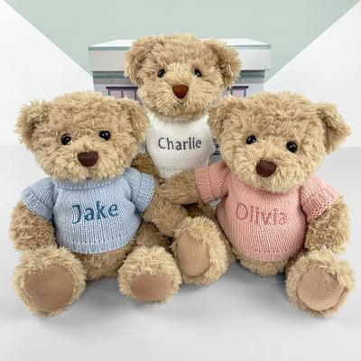 Personalised Bertie Bear, Blue