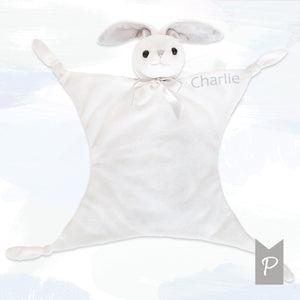 Personalised Little Grey Bunny Comforter