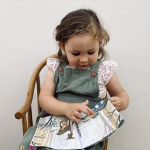 Personalised Little Grey Bunny and Rag Book