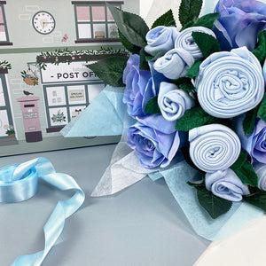Luxury Rose Baby Clothes Bouquet - Blue