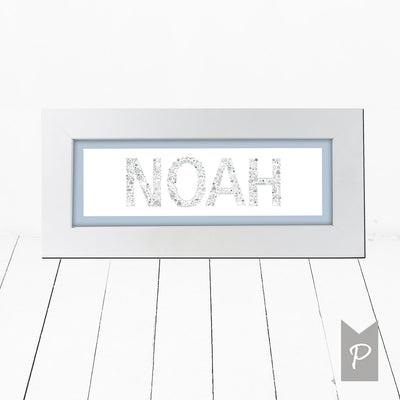 Personalised Baby Boy Name Frame