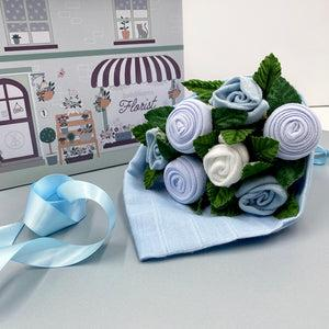 Hello Baby Clothes Bouquet - Blue