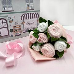 Hello Baby Clothes Bouquet - Pink