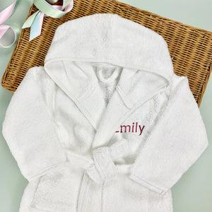 Personalised Bathrobe, Pink - 5-6 Years