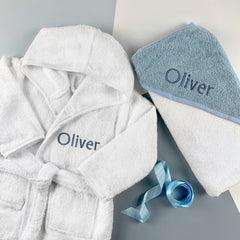 Personalised Cosy Cuddles Gift Set, Blue - 1-2 Years