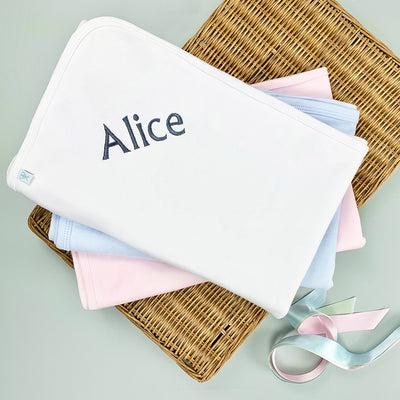 Personalised Snuggle Wrap, White
