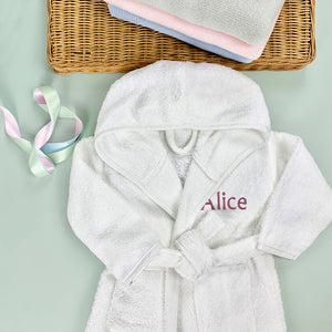 Personalised Bathrobe, Pink - 1-2 Years