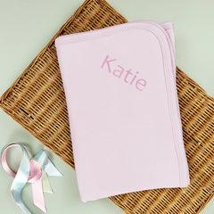 Personalised Snuggle Wrap, Pink