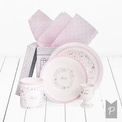 Little Love Personalised Breakfast Set - Pink