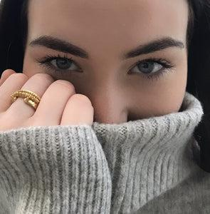 MayaH Jewellery Stacking Rings in Gold