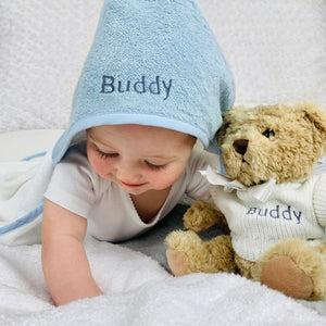 Personalised Cosy Cuddles Gift Set, Blue