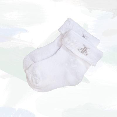 Baby's First Christmas Cracker Socks, White