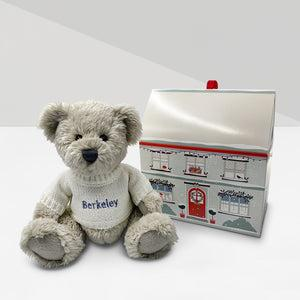 Personalised Christmas Berkeley Bear with Gift Box, White
