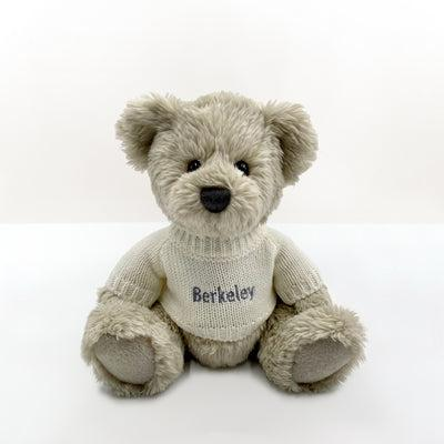 New Baby Christmas Welcome Hamper with Personalised Berkeley Bear, Grey