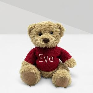 Personalised Send a Christmas Cuddle Bear - Red