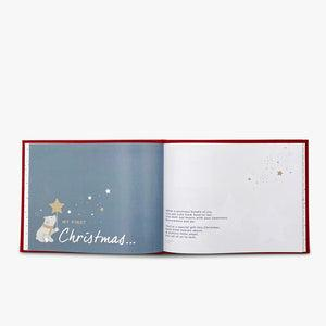 Baby's First Christmas Keepsake Journal with Personalised Berkeley Bear and Bathrobe, Red