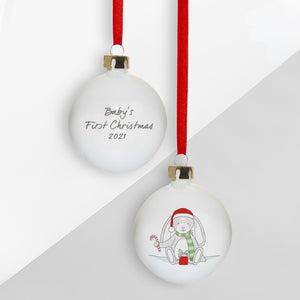 Baby's First Christmas Little Bunny Bauble