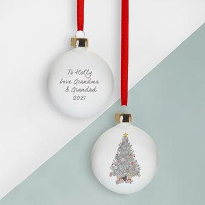 Personalised Baby's First Christmas Tree Bauble