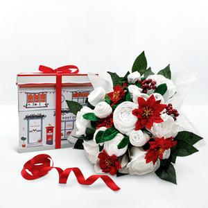 Christmas Luxury Rose Baby Clothes Bouquet - White