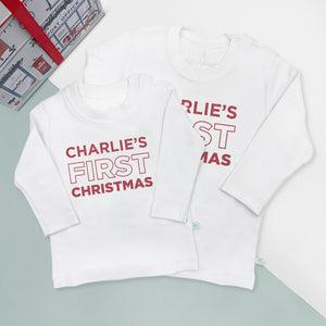 My First Christmas T-Shirt – Personalised
